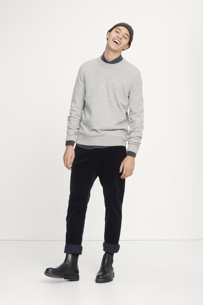 Geir Crew Neck Sweatshirt Grey Melange-3