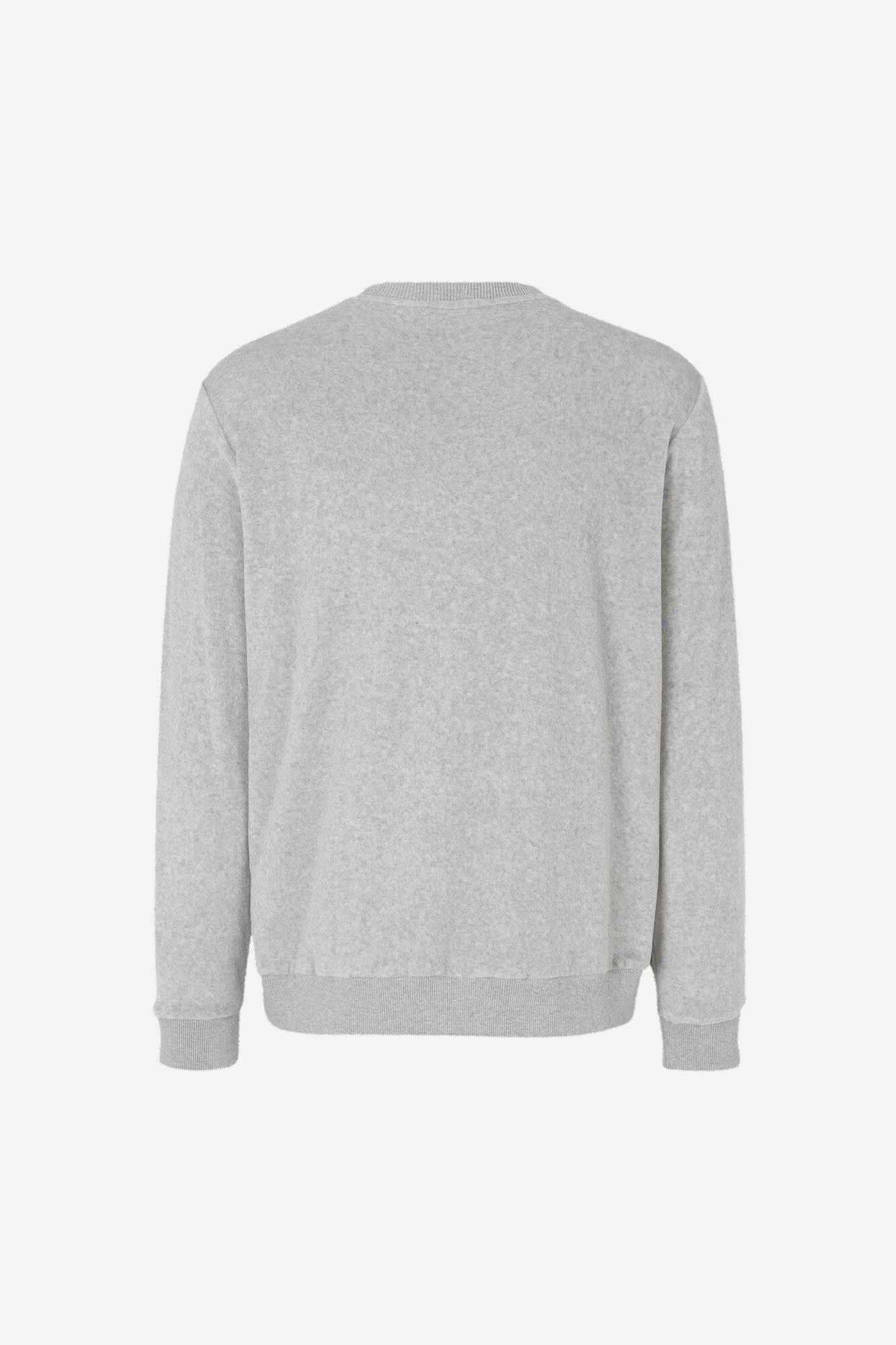 Geir Crew Neck Sweatshirt Grey Melange-2