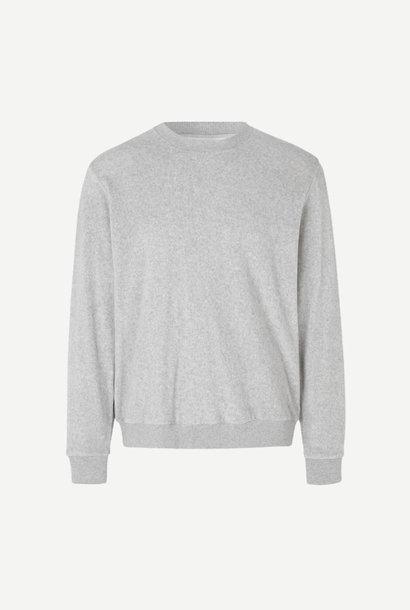 Geir Crew Neck Sweatshirt Grey Melange