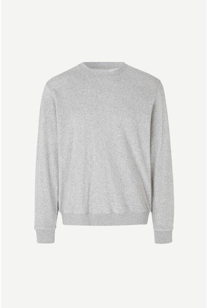 Geir Crew Neck Sweatshirt Grey Melange