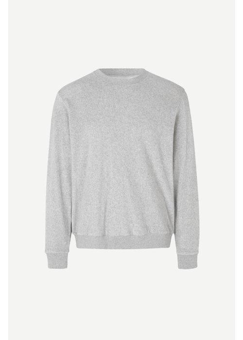 Samsoe Samsoe Geir Crew Neck Sweatshirt Grey Melange
