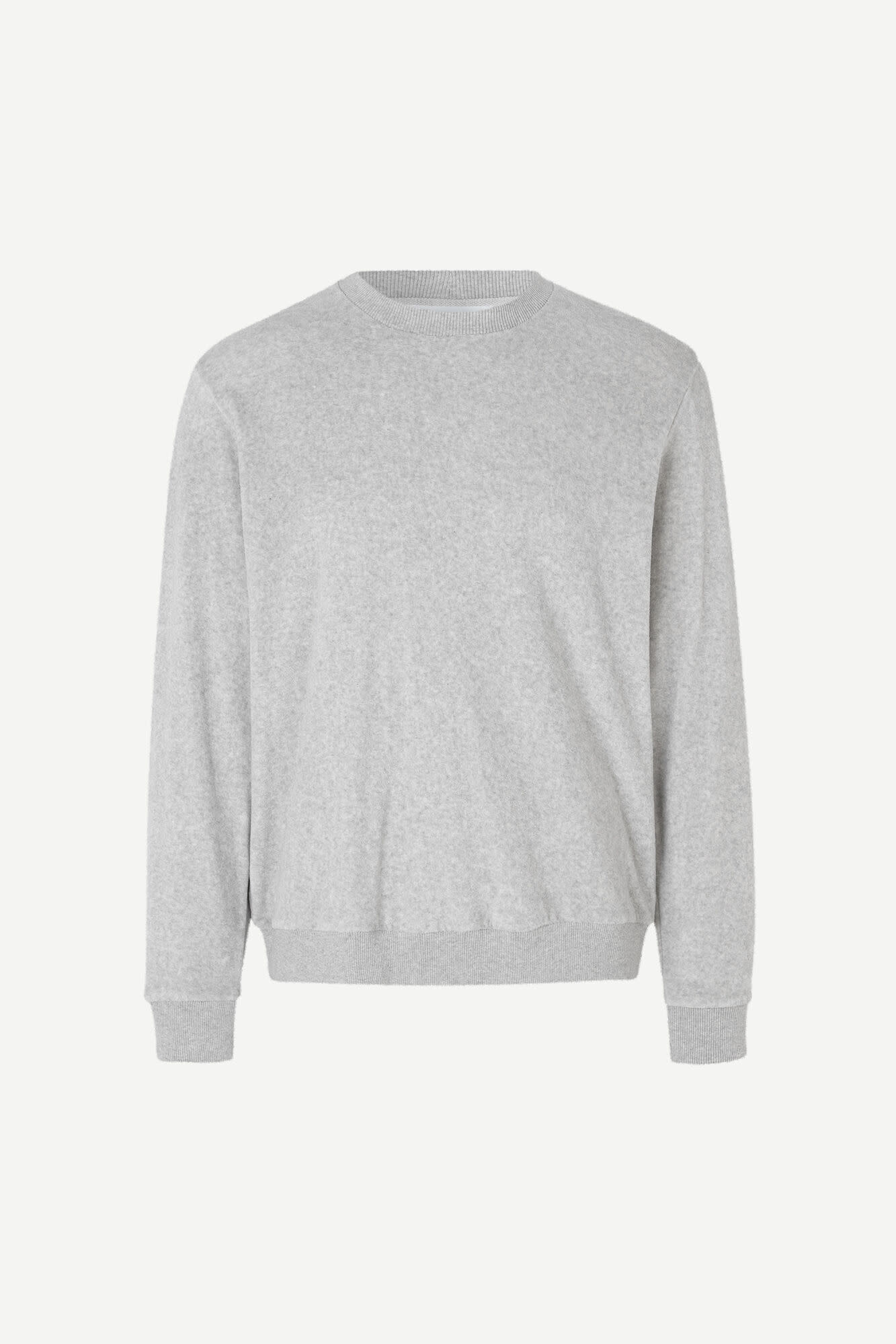 Geir Crew Neck Sweatshirt Grey Melange-1