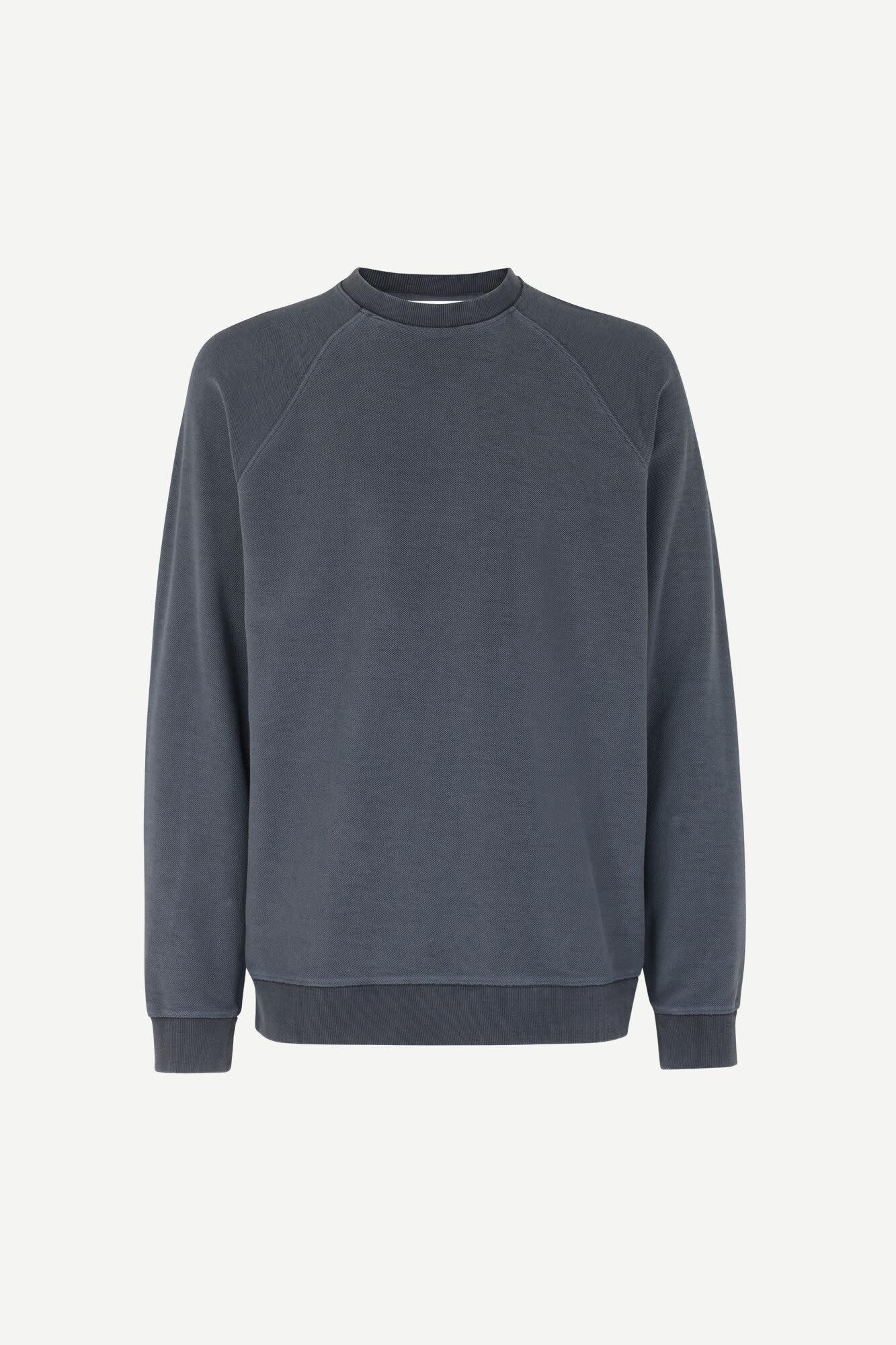 Aso Crew Neck Sweatshirt Night Sky Blue-1