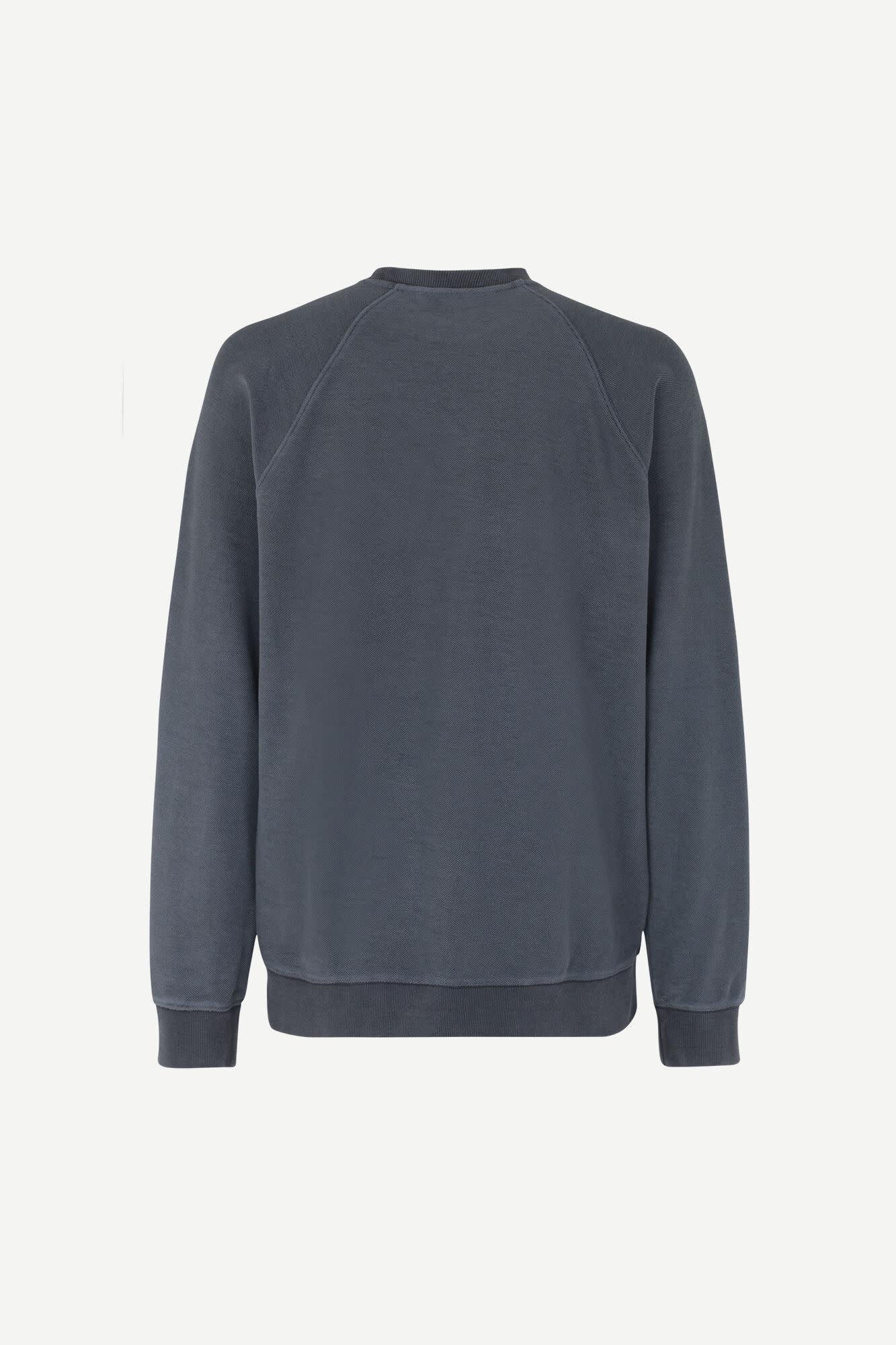 Aso Crew Neck Sweatshirt Night Sky Blue-2