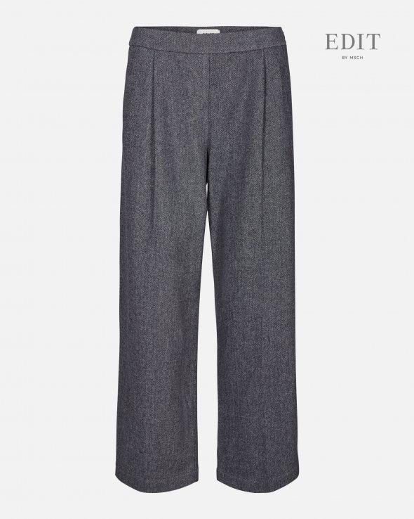 kairo Wide Grey Wool Pants-1