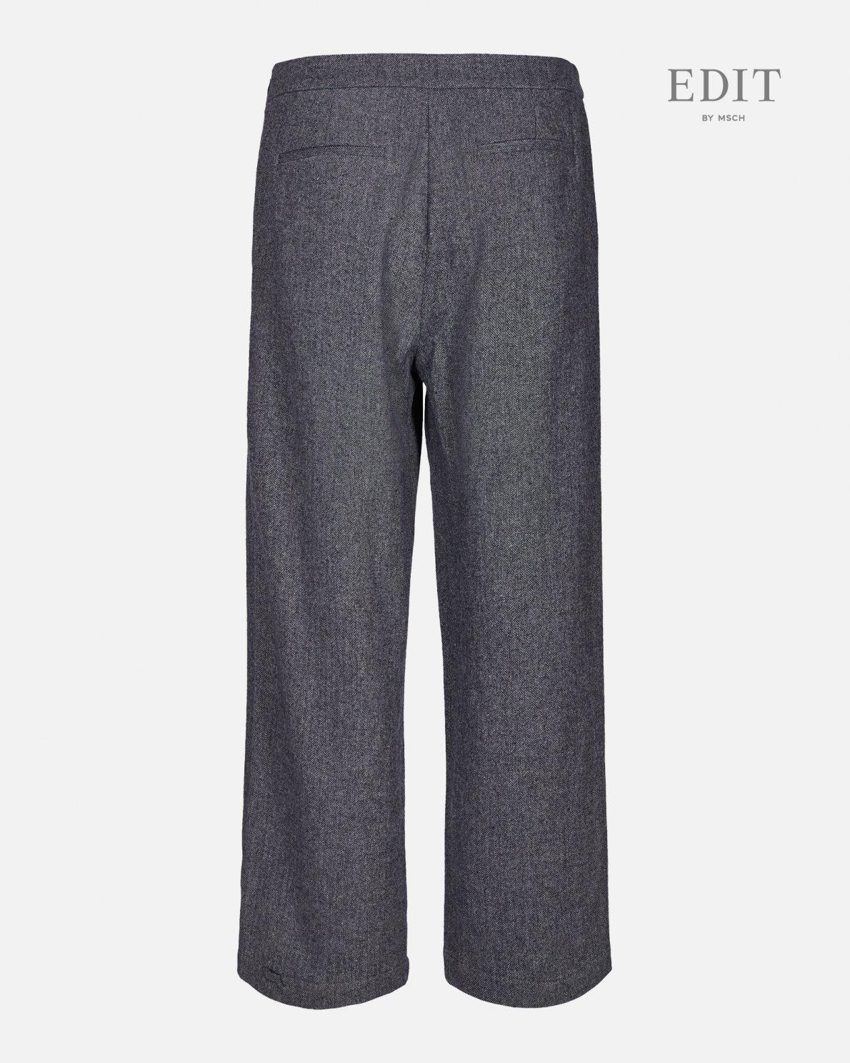 kairo Wide Grey Wool Pants-2