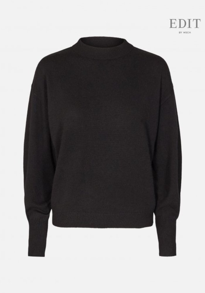 Ingo Black Wool Pullover