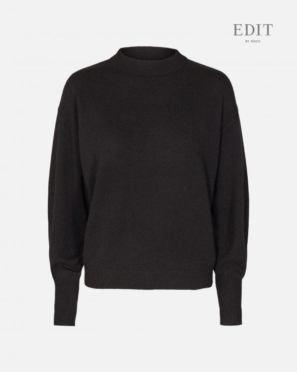 Ingo Black Wool Pullover-1
