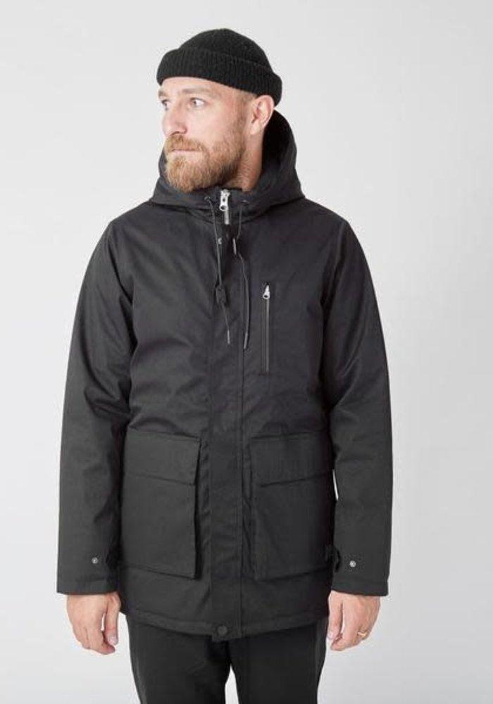 Ron Heavy Half Long Jacket Black