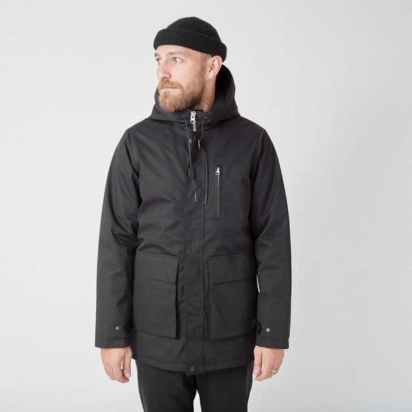 Ron Heavy Half Long Jacket Black-1