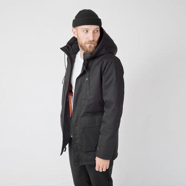 Ron Heavy Half Long Jacket Black-2