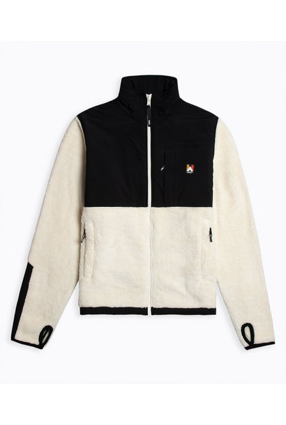 Hannes Off White Teddy Fleece Jacket
