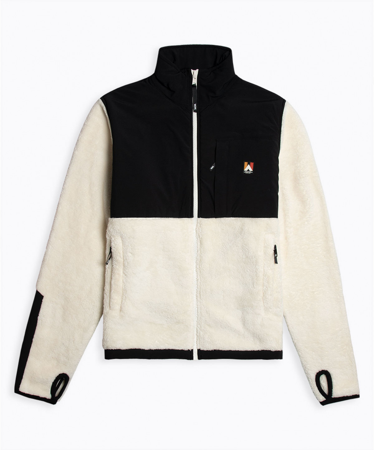 Hannes Off White Teddy Fleece Jacket-1
