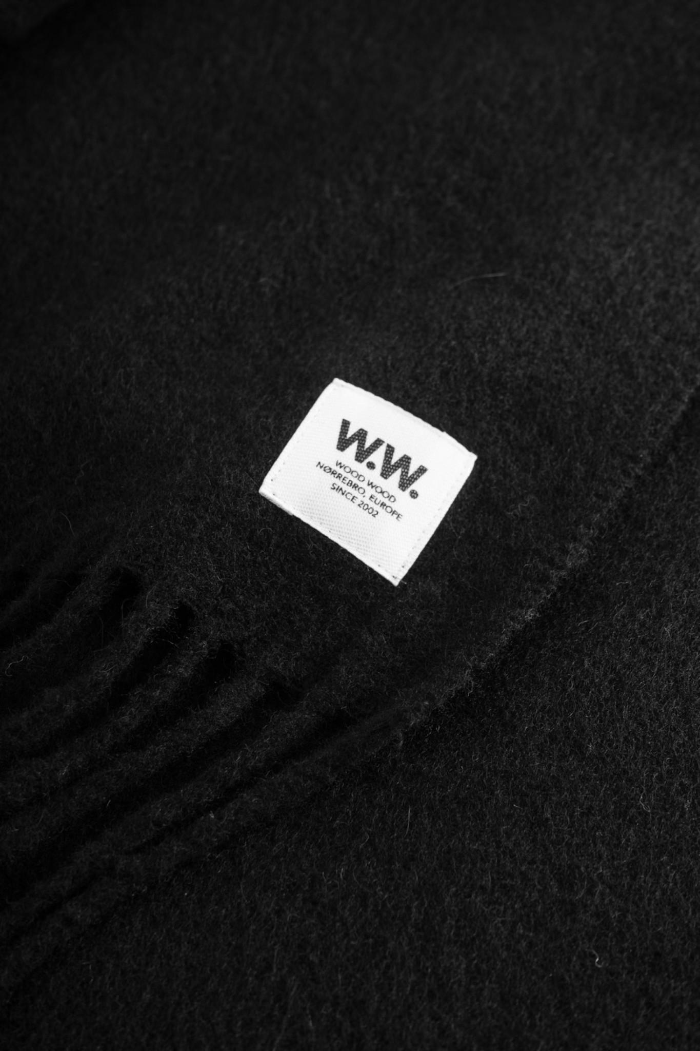 karlo Scarf Black Wool-2