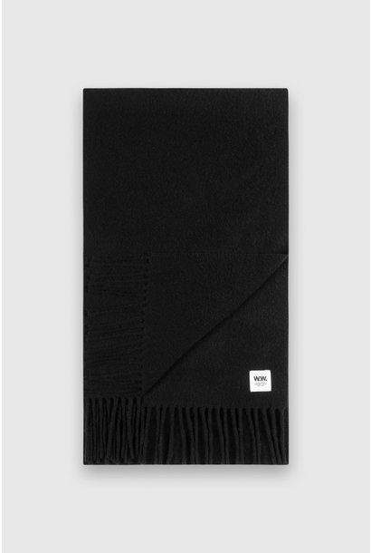 karlo Scarf Black Wool