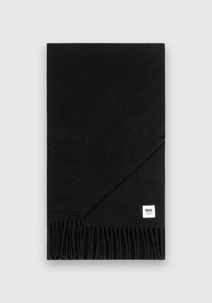 karlo Scarf Black Wool