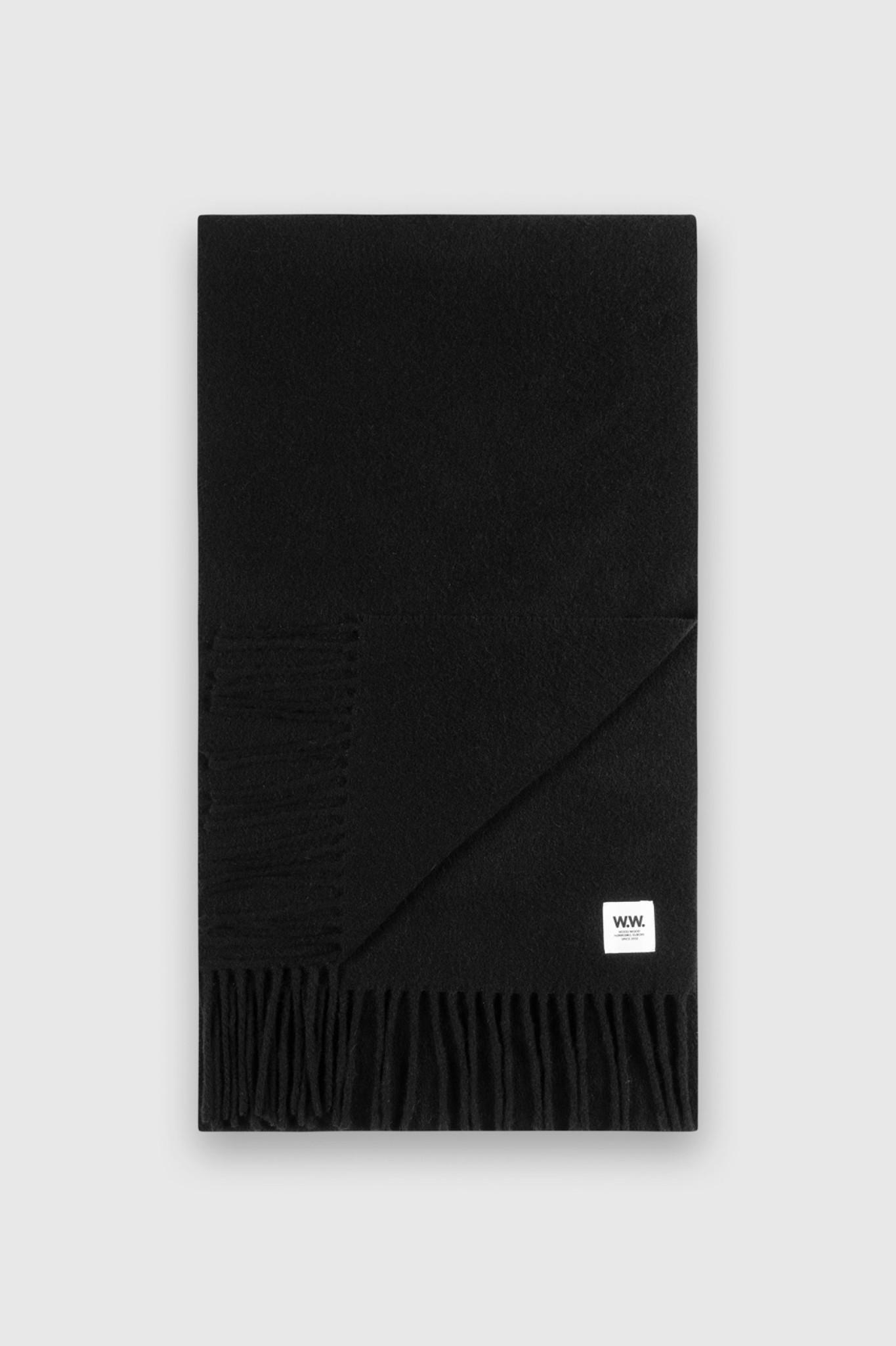karlo Scarf Black Wool-1