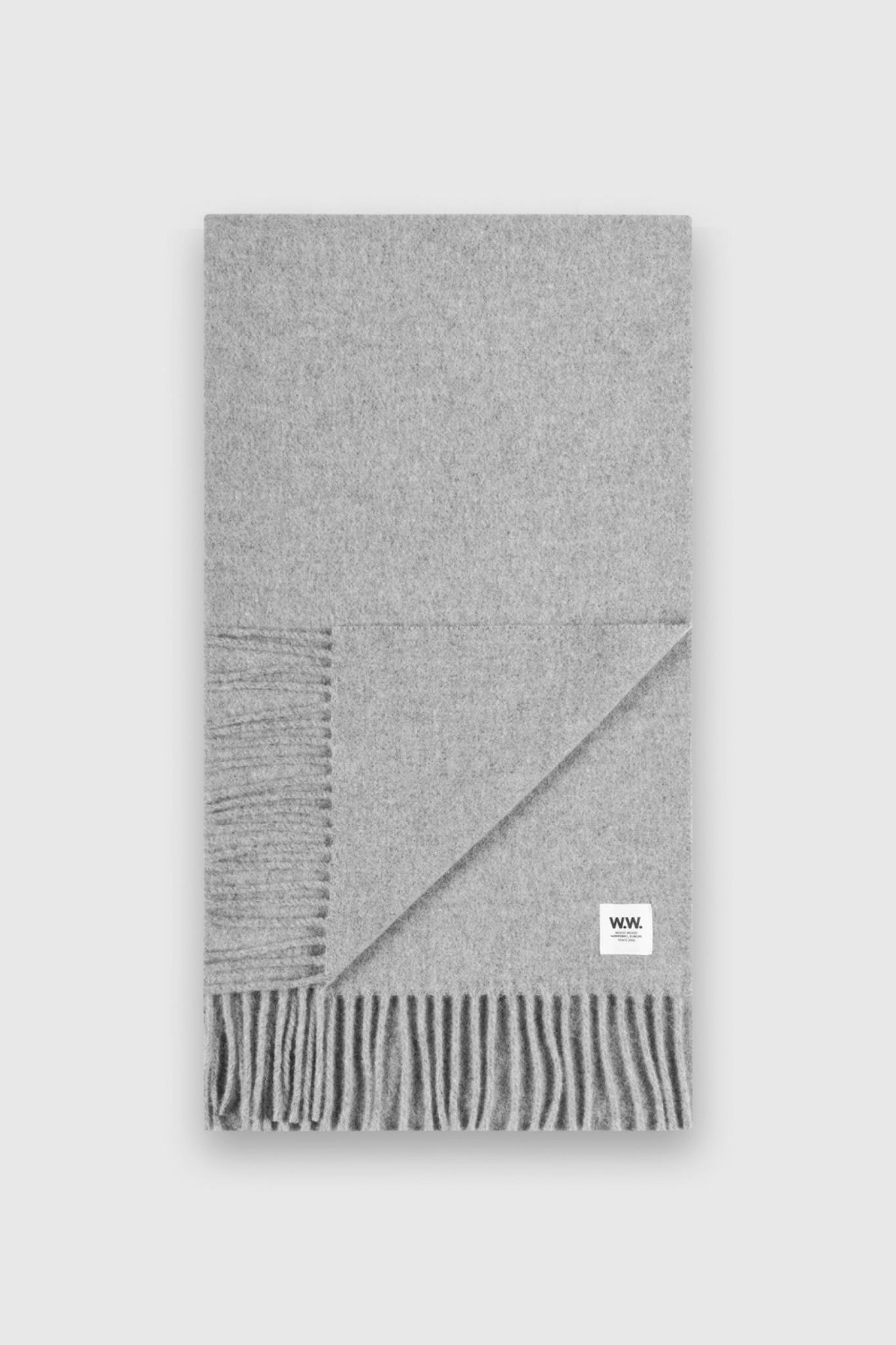 karlo Scarf Grey Melange Wool-1