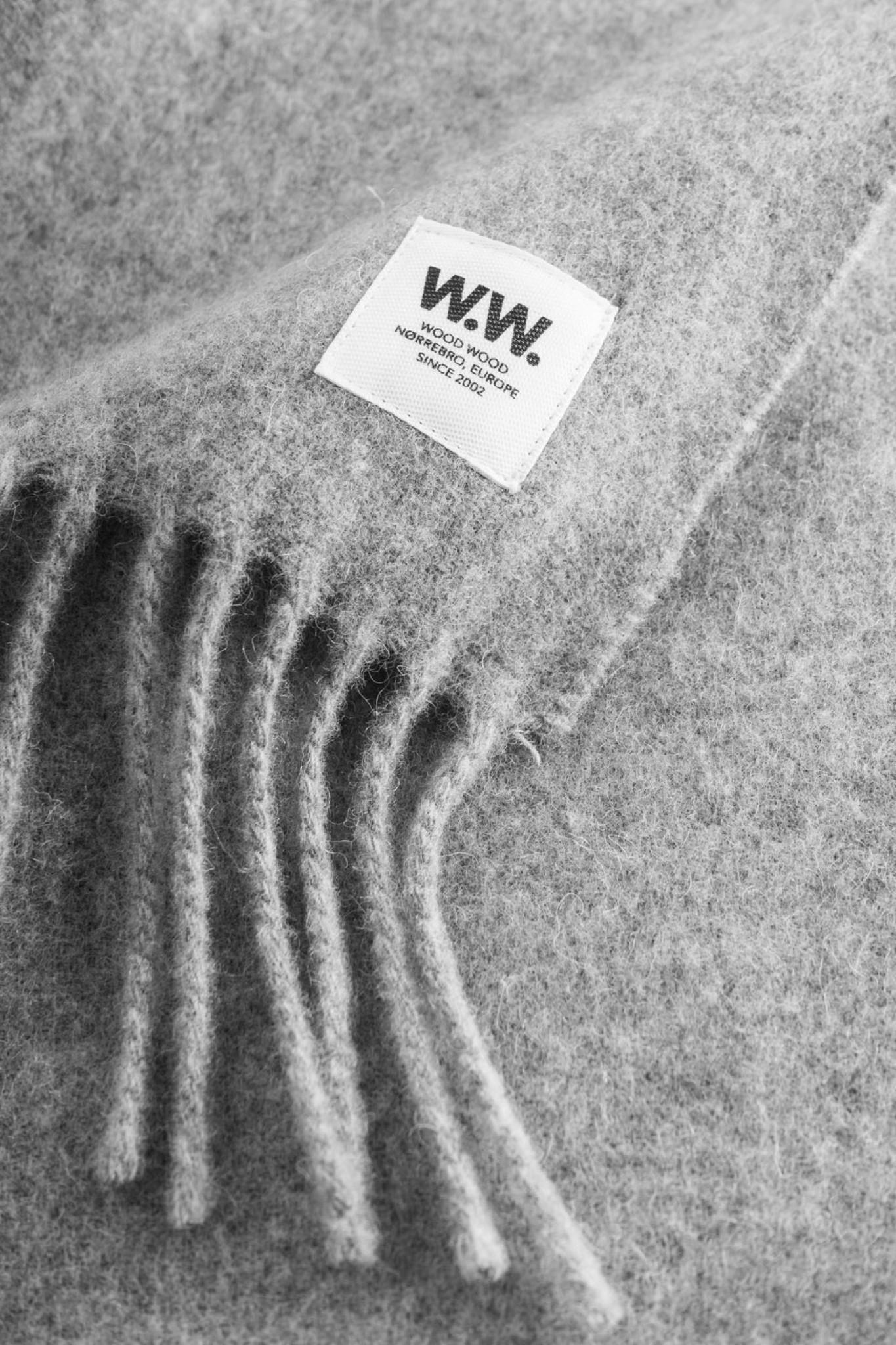 karlo Scarf Grey Melange Wool-2
