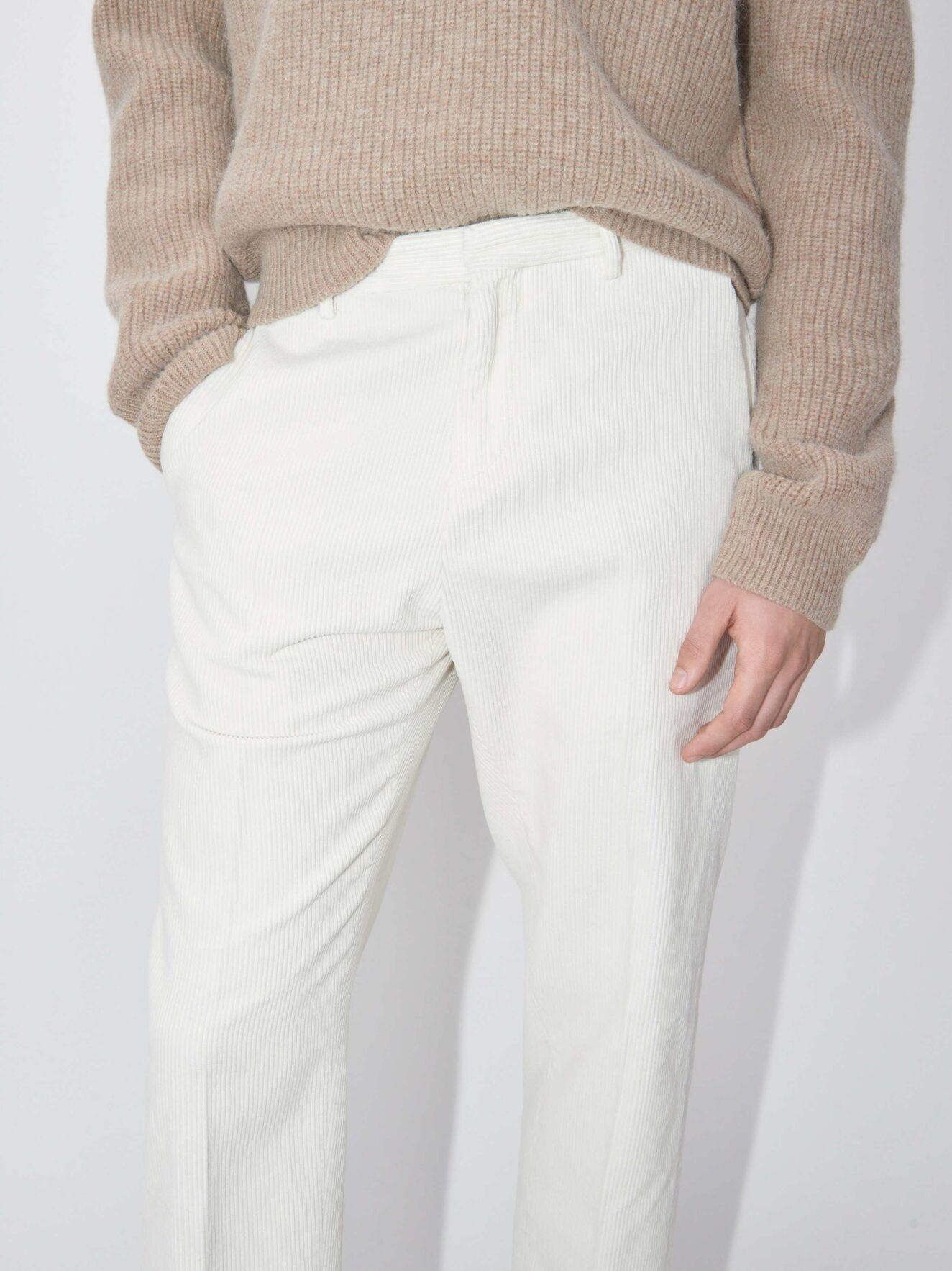 Cone Ppt Off White Cord Trouser-2
