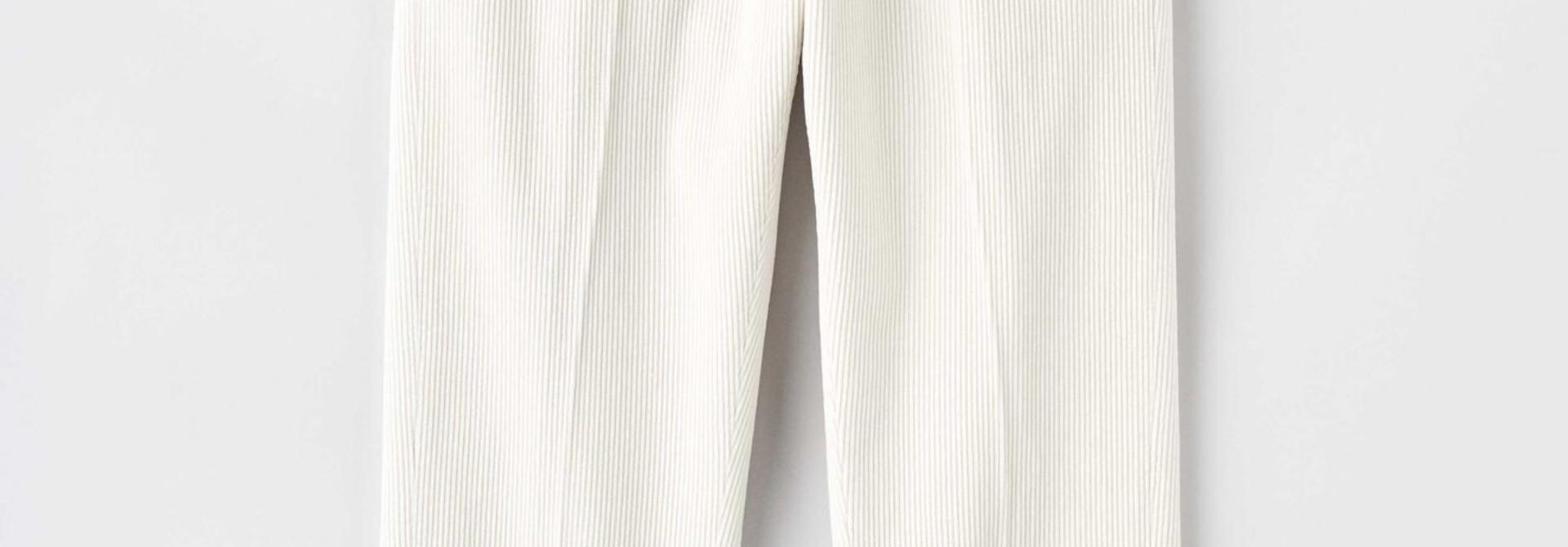 Cone Ppt Off White Cord Trouser