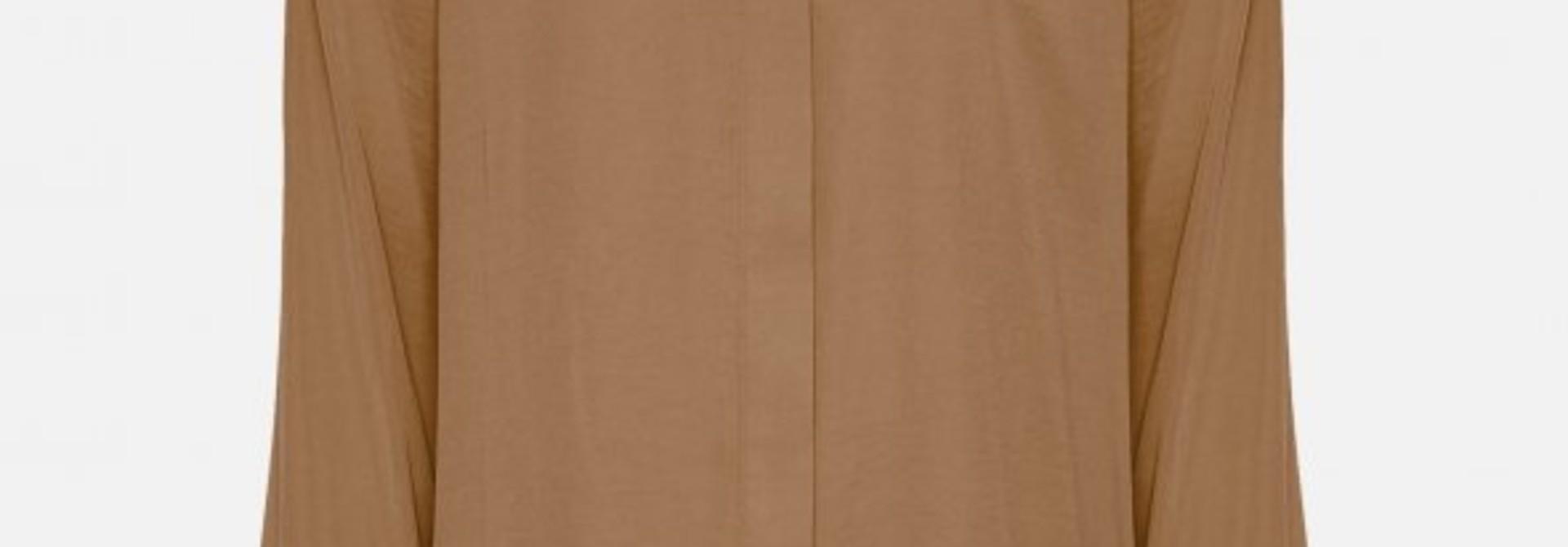 Luella Polysilk Shirt Tobacco Brown