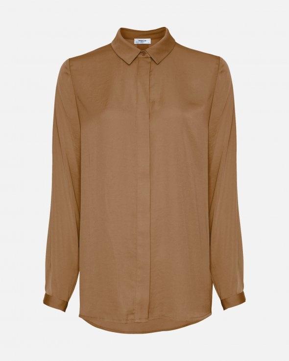 Luella Polysilk Shirt Tobacco Brown-1