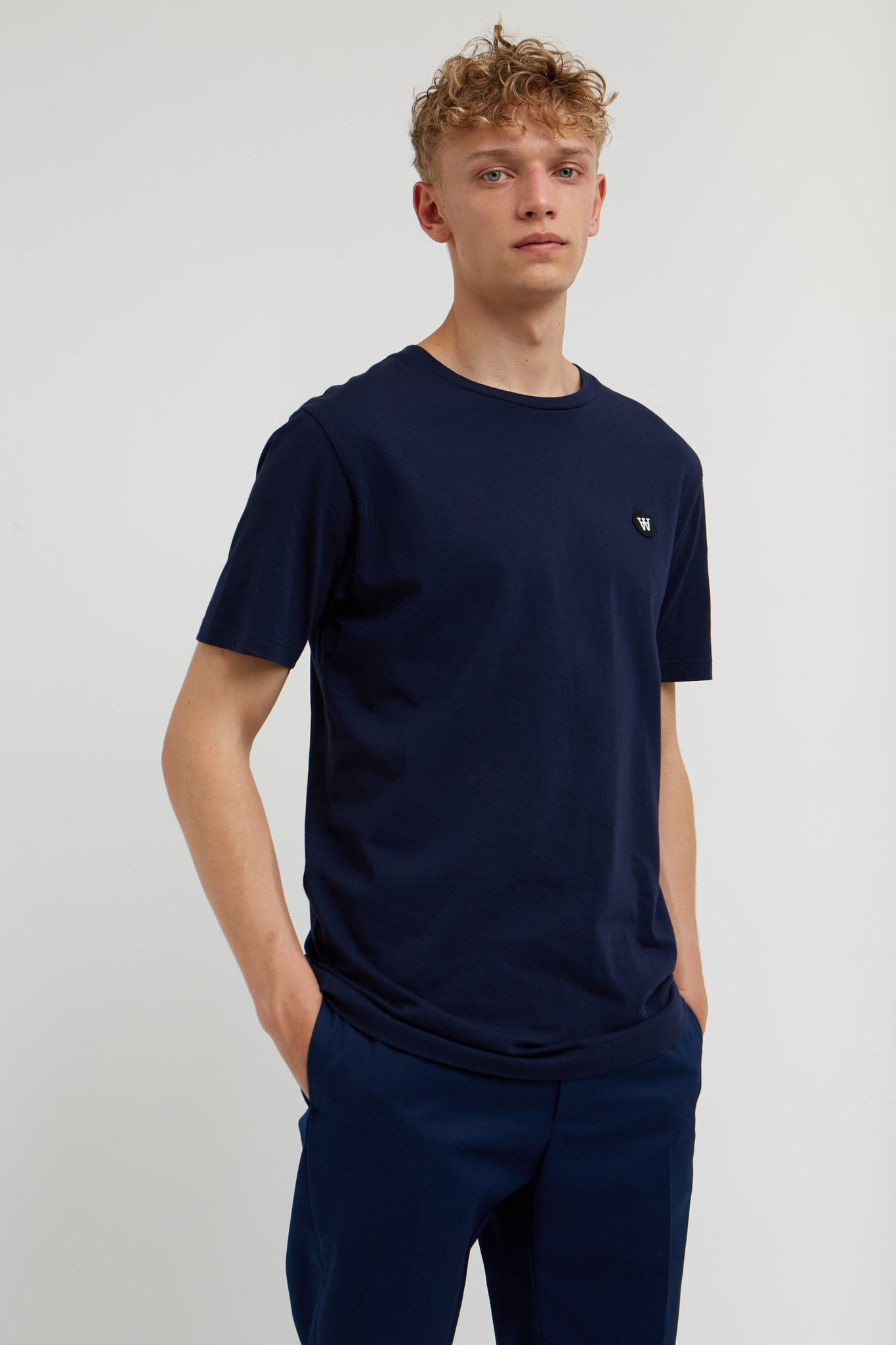 Ace Double A T-Shirt Navy-3