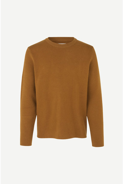 Gunan Crew Neck Jumper Monks Robe Brown