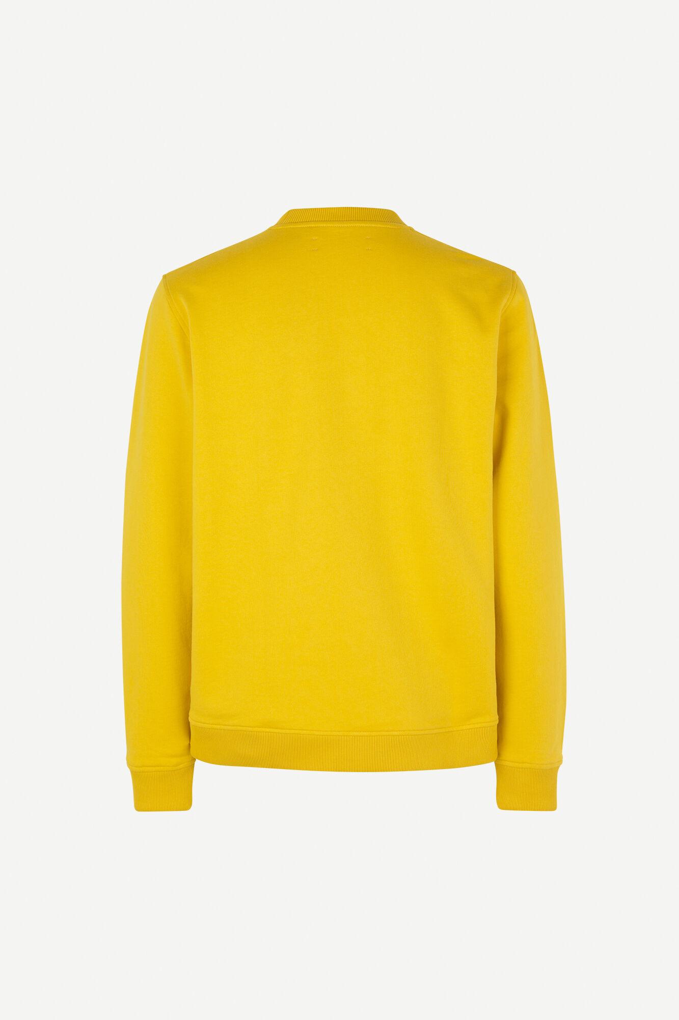 Aviso Crew Neck Sweater Lemon Curry Yellow-2
