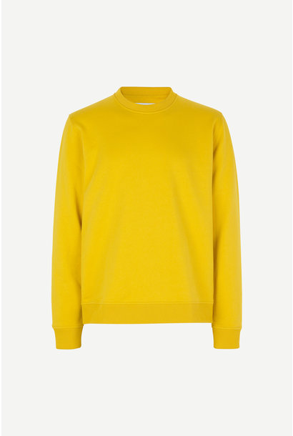 Aviso Crew Neck Sweater Lemon Curry Yellow