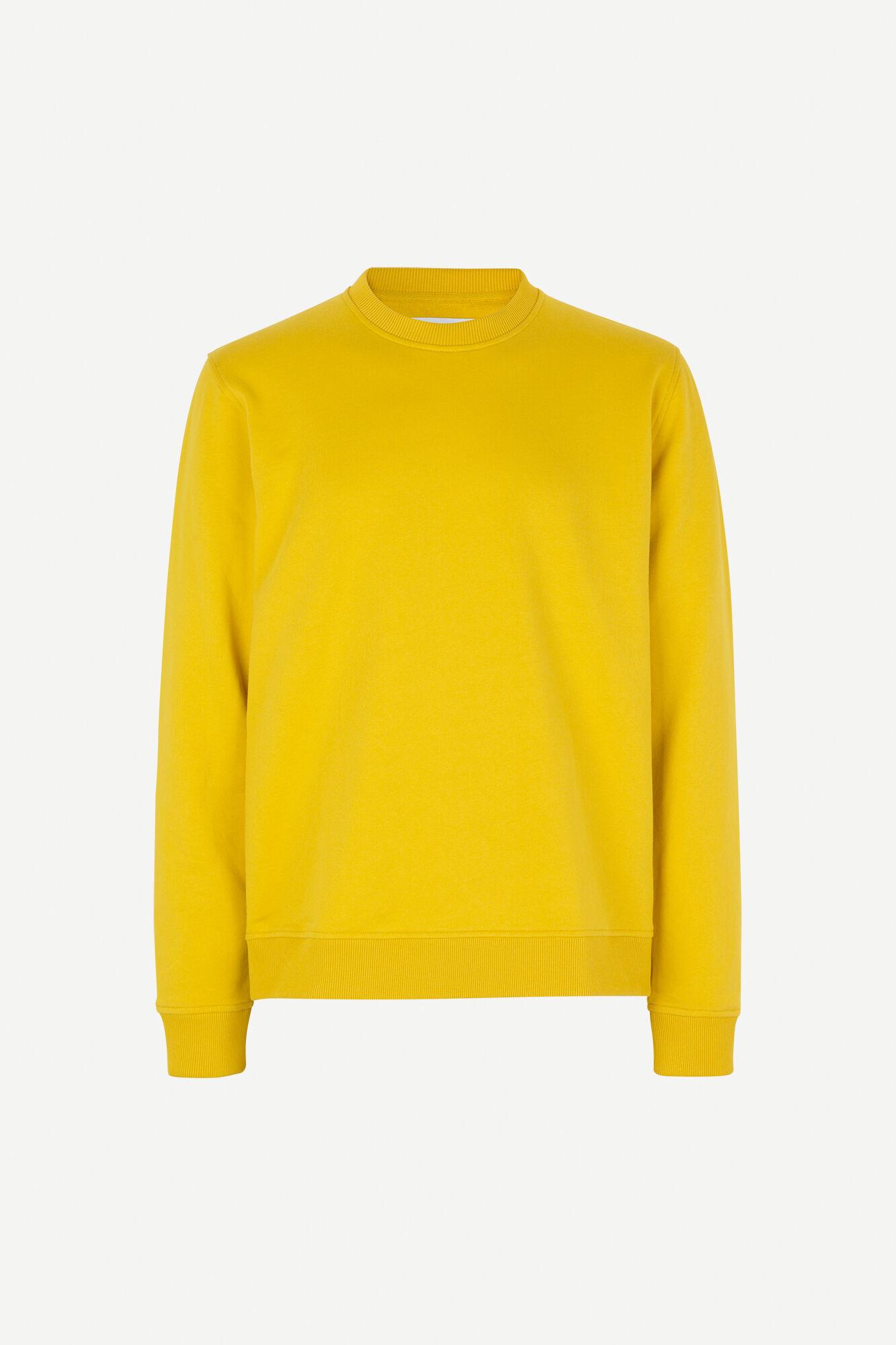 Aviso Crew Neck Sweater Lemon Curry Yellow-1