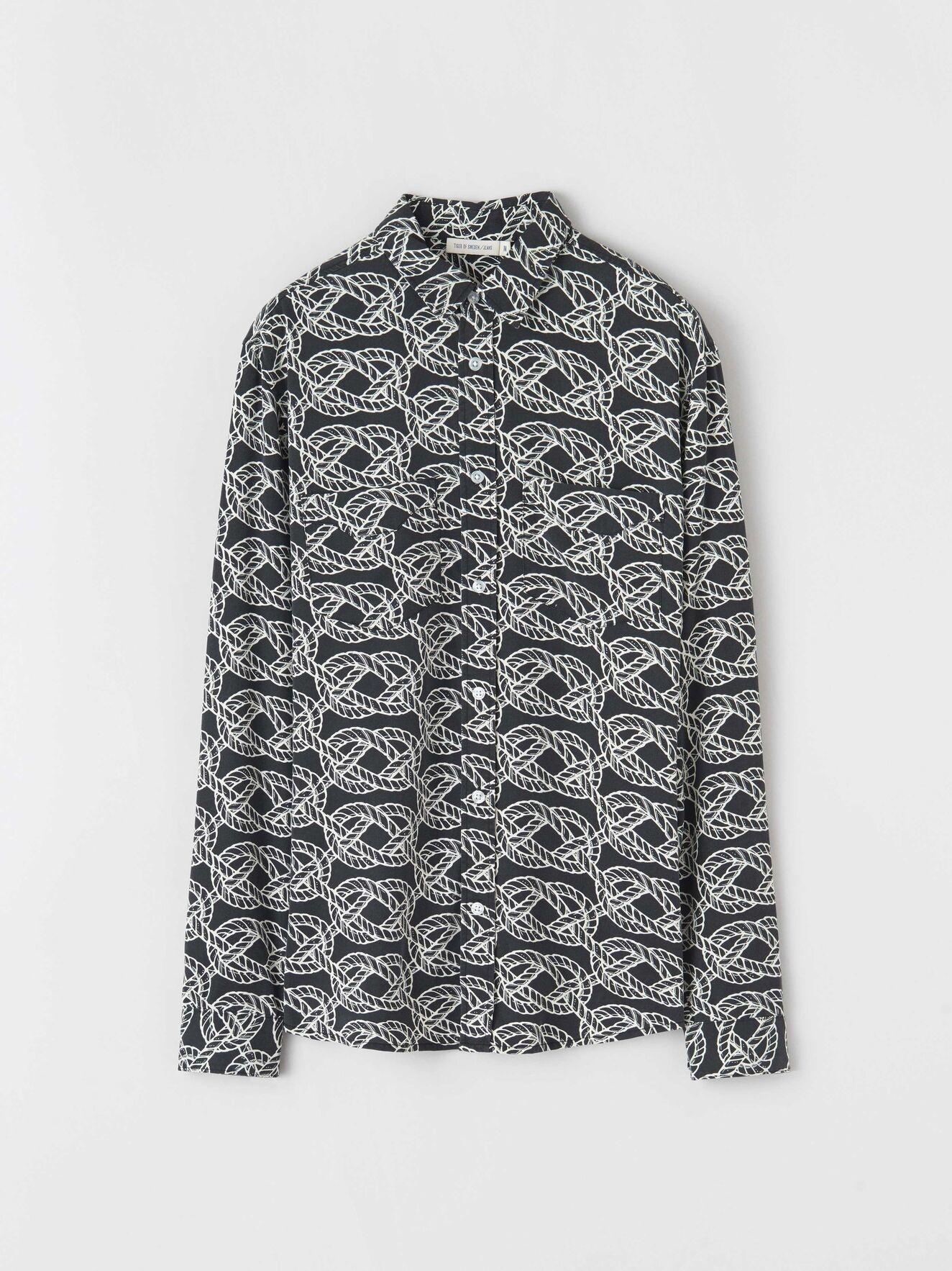 Sid R Cable Shirt Black-1