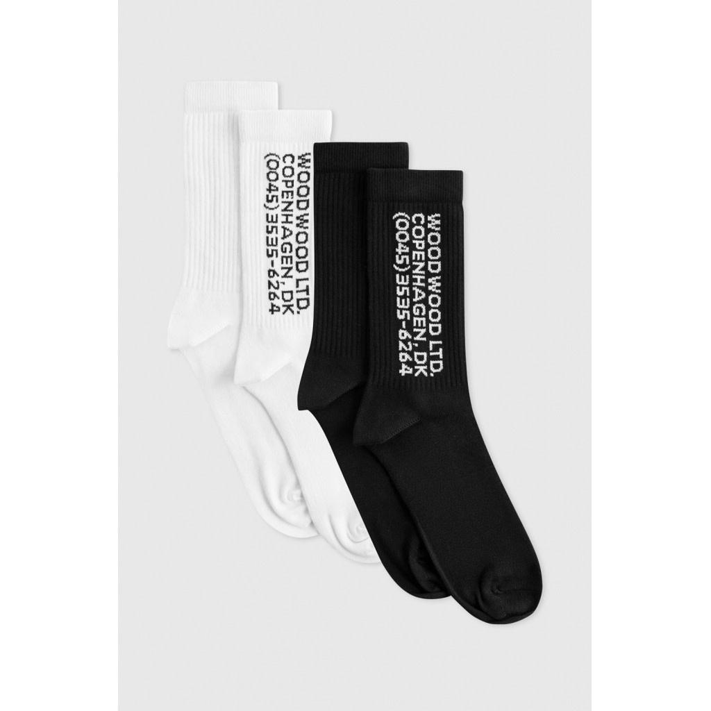 Gail 2-Pack Socks White Black-4