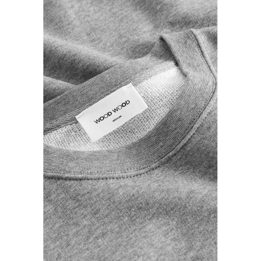 Hugh Sweatshirt Grey Melange Unisex-4