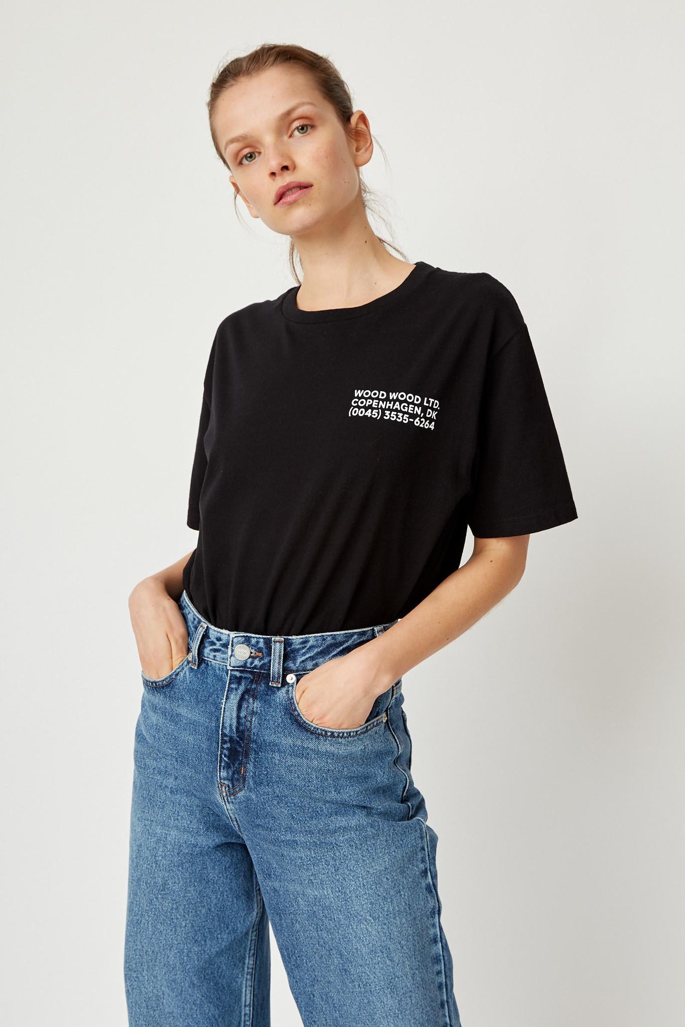 Info T-Shirt Black Unisex-2