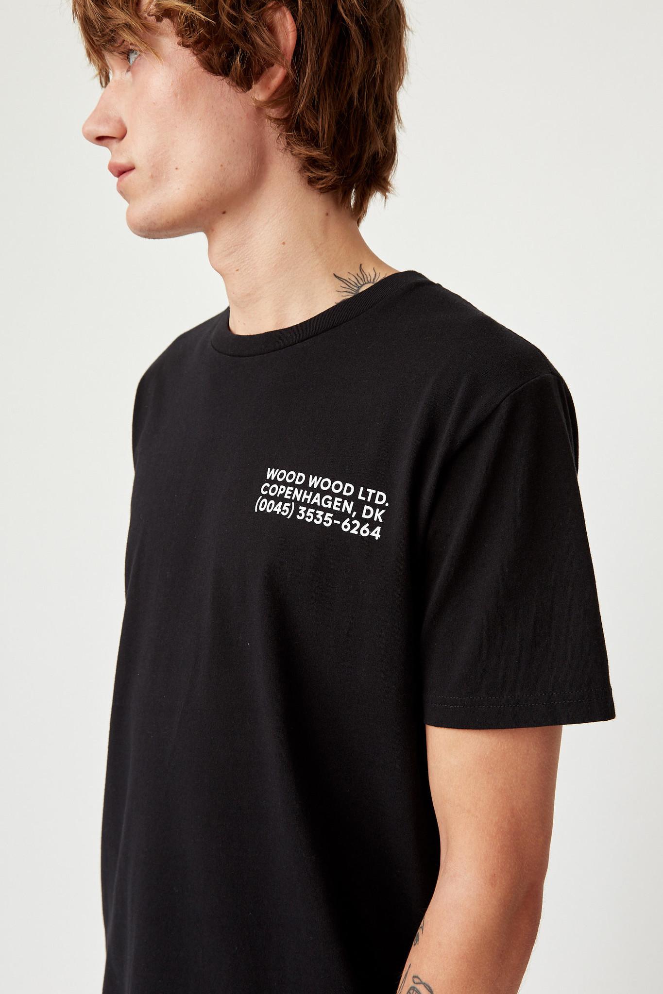 Info T-Shirt Black Unisex-4