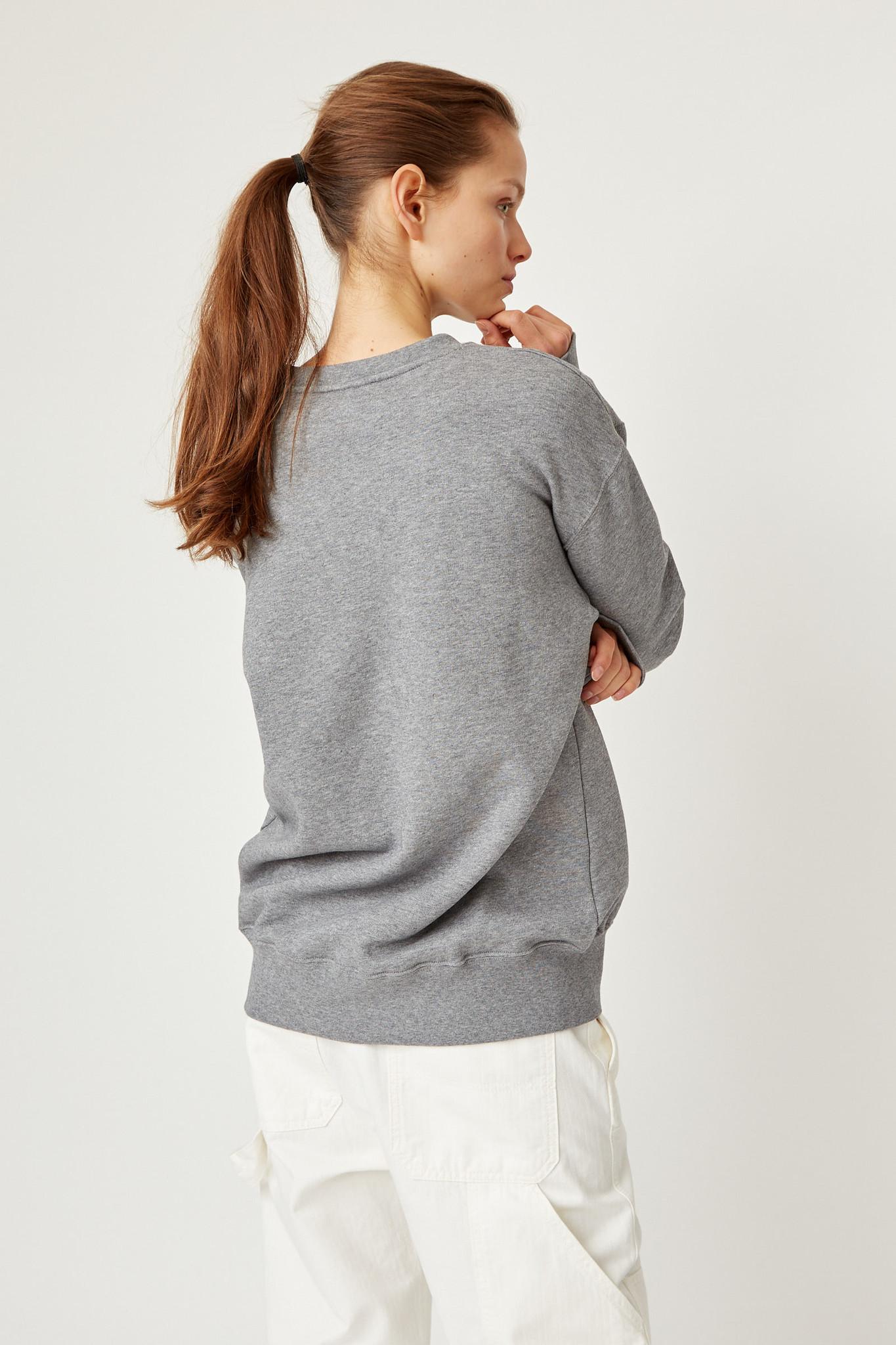 Hugh Sweatshirt Grey Melange Unisex-5