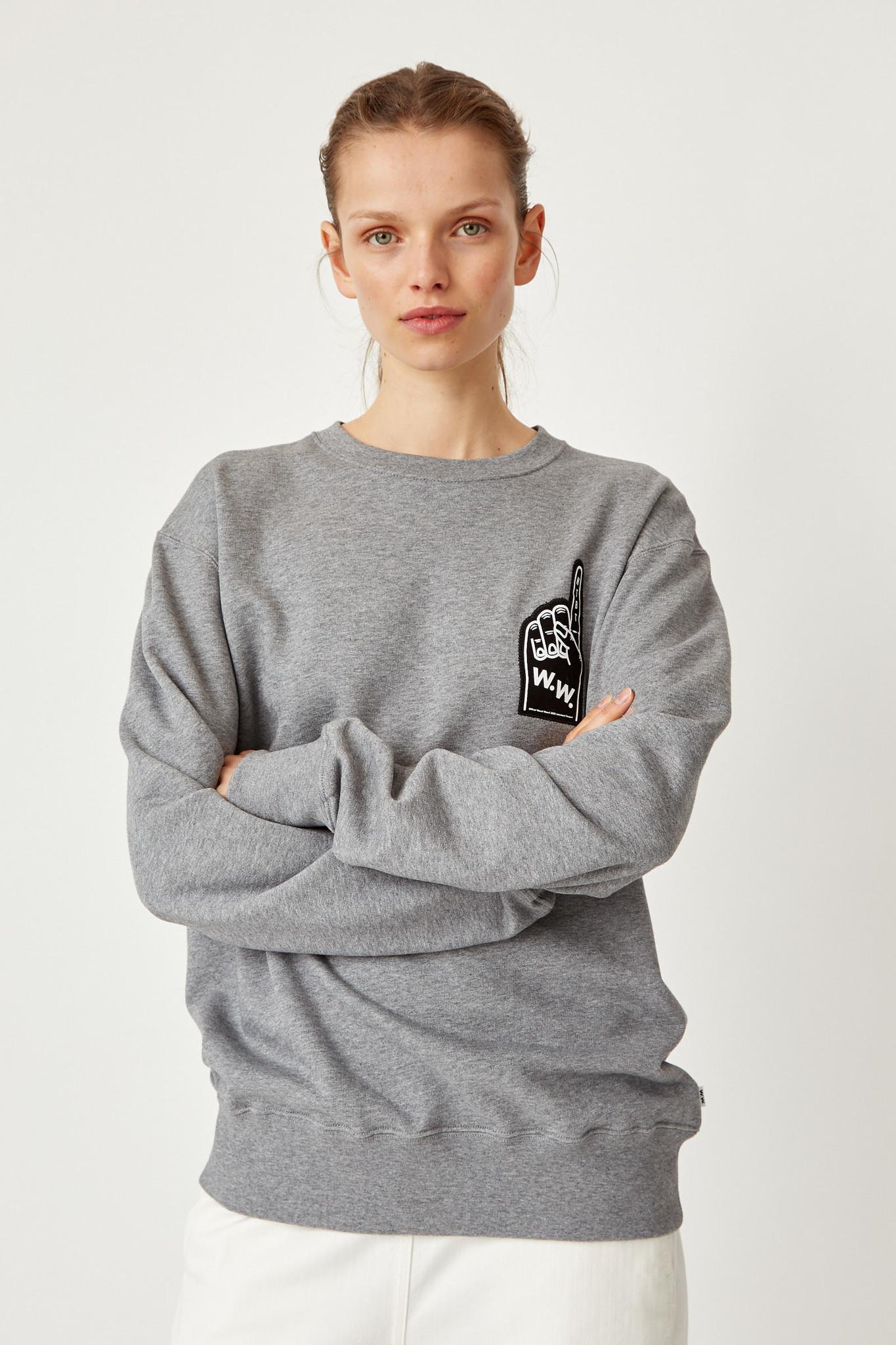 Hugh Sweatshirt Grey Melange Unisex-2