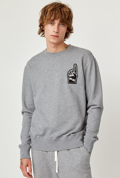 Hugh Sweatshirt Grey Melange Unisex