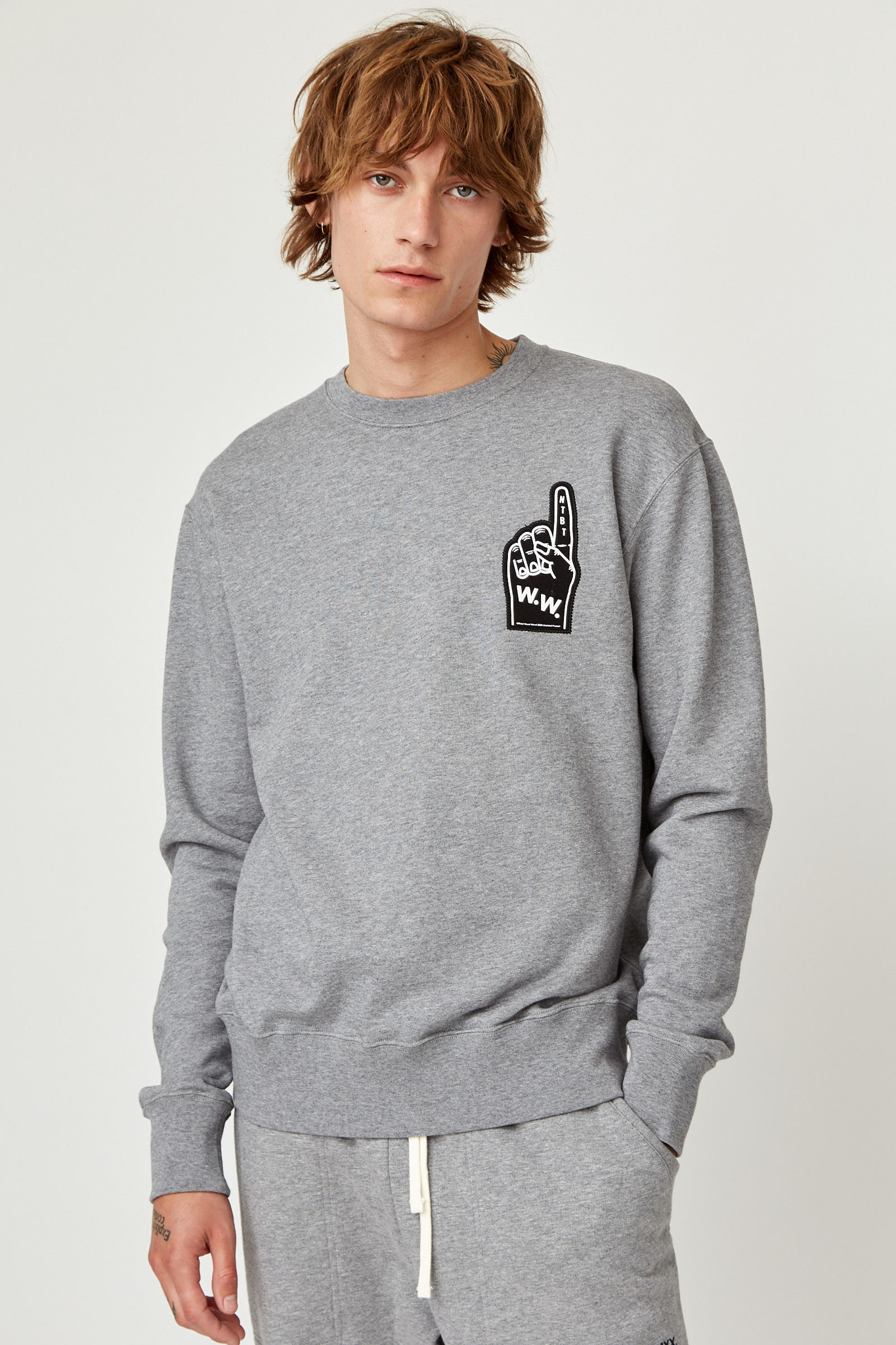 Hugh Sweatshirt Grey Melange Unisex-6