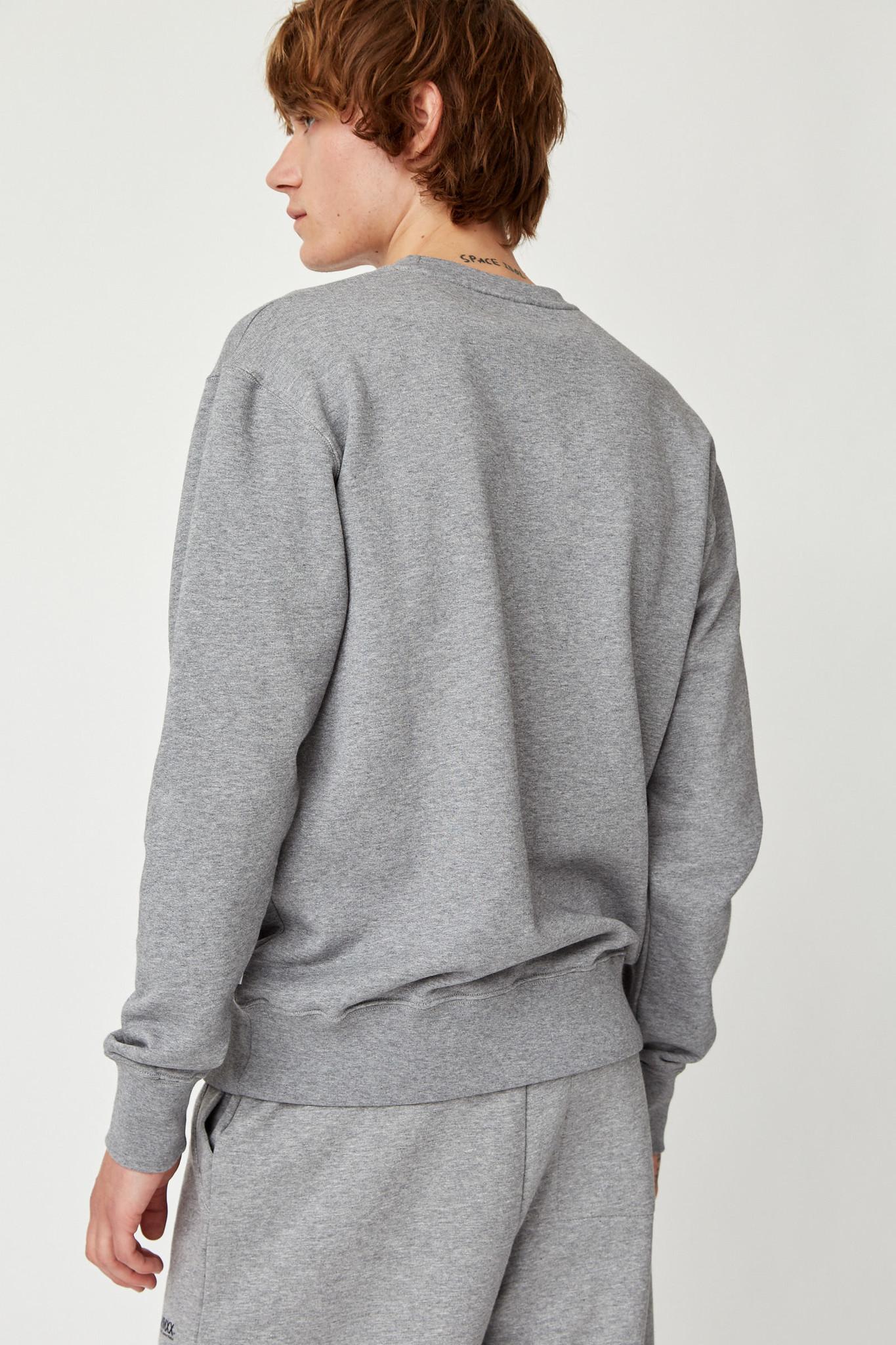 Hugh Sweatshirt Grey Melange Unisex-7