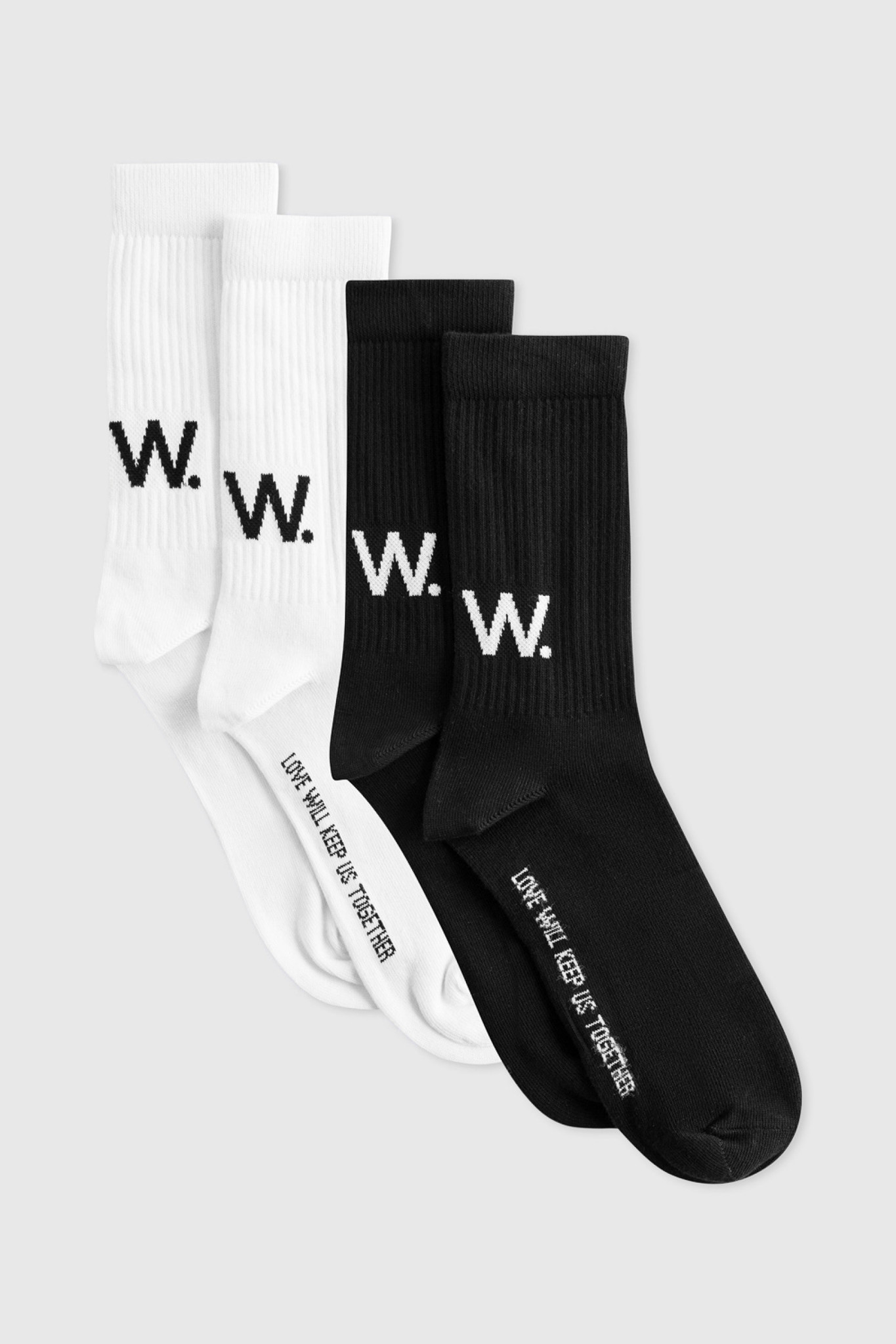 Gail 2-Pack Socks W.W. White Black-1
