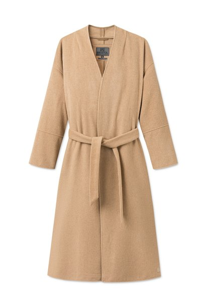 Lazaar Wool Coat Sand Brown