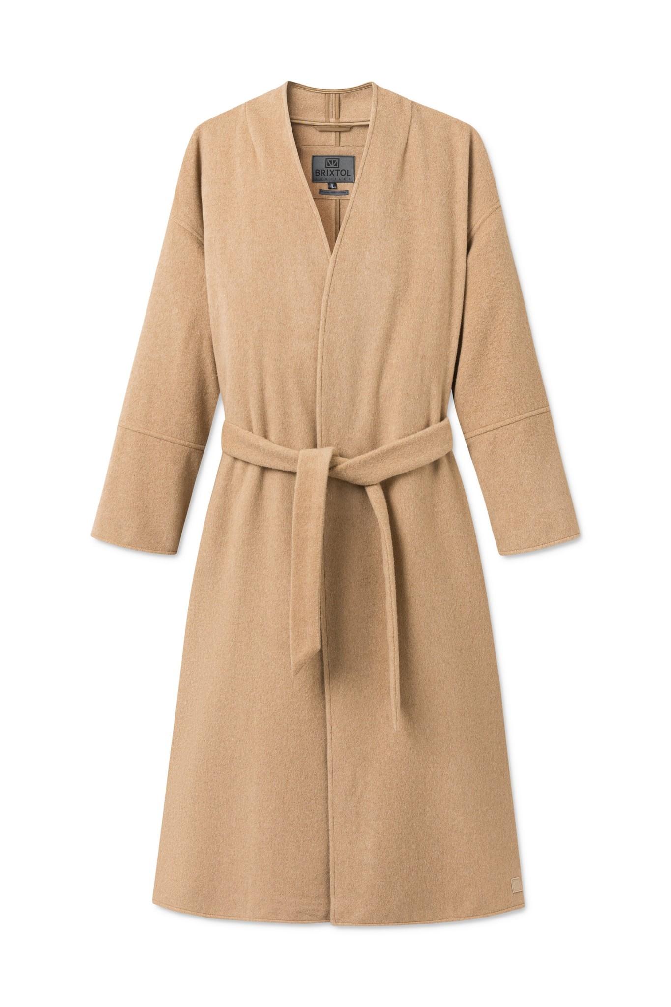 Lazaar Wool Coat Sand Brown-1
