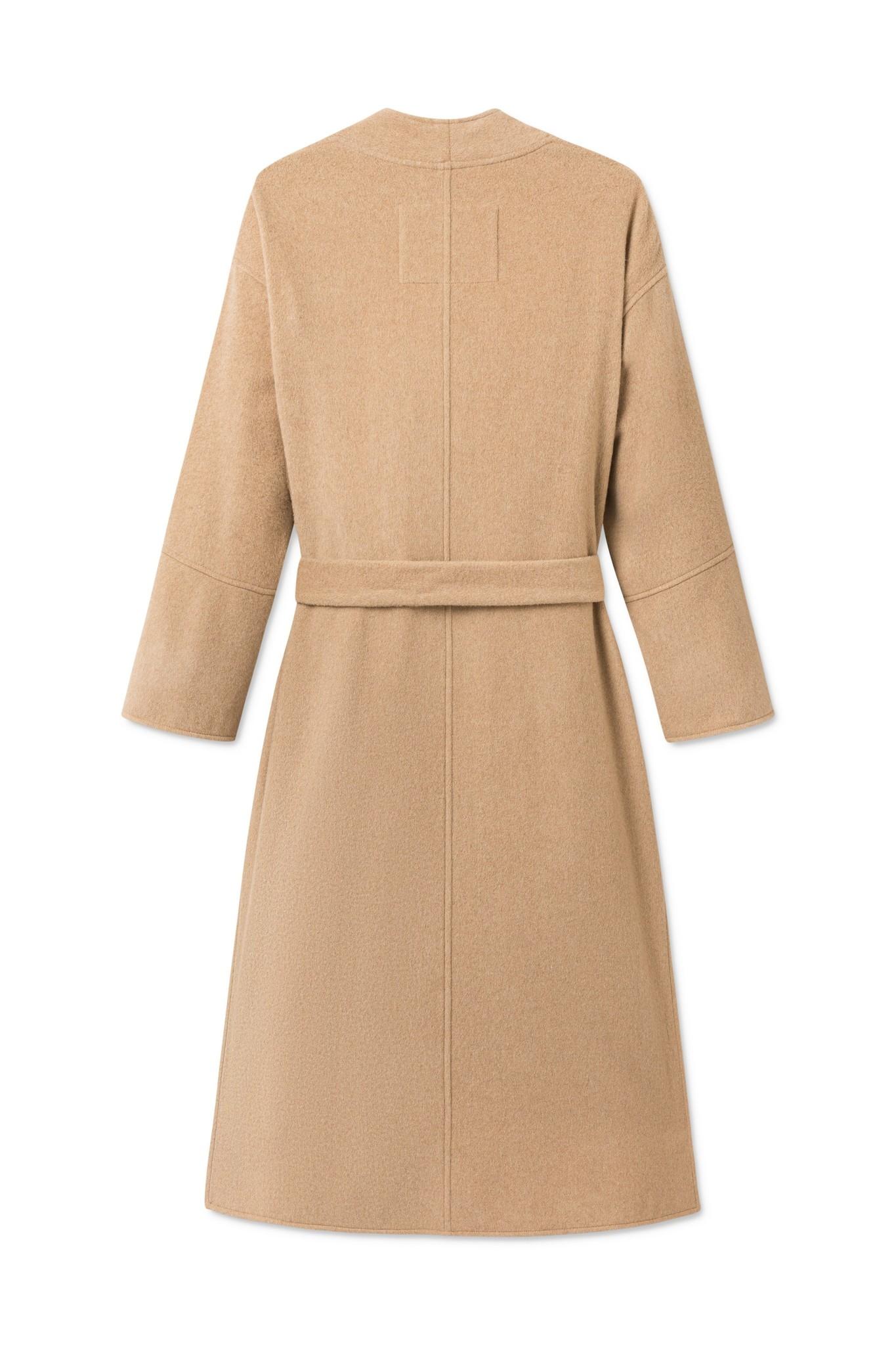 Lazaar Wool Coat Sand Brown-2