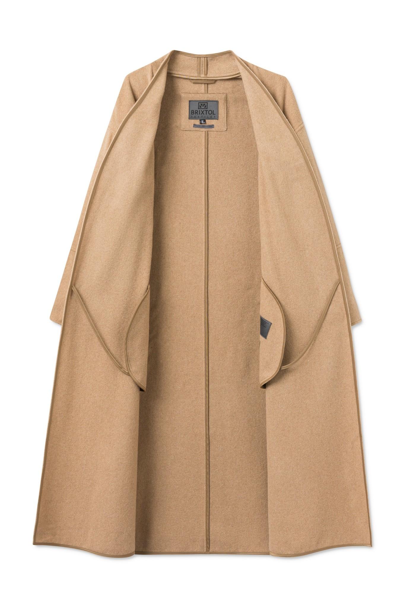 Lazaar Wool Coat Sand Brown-5
