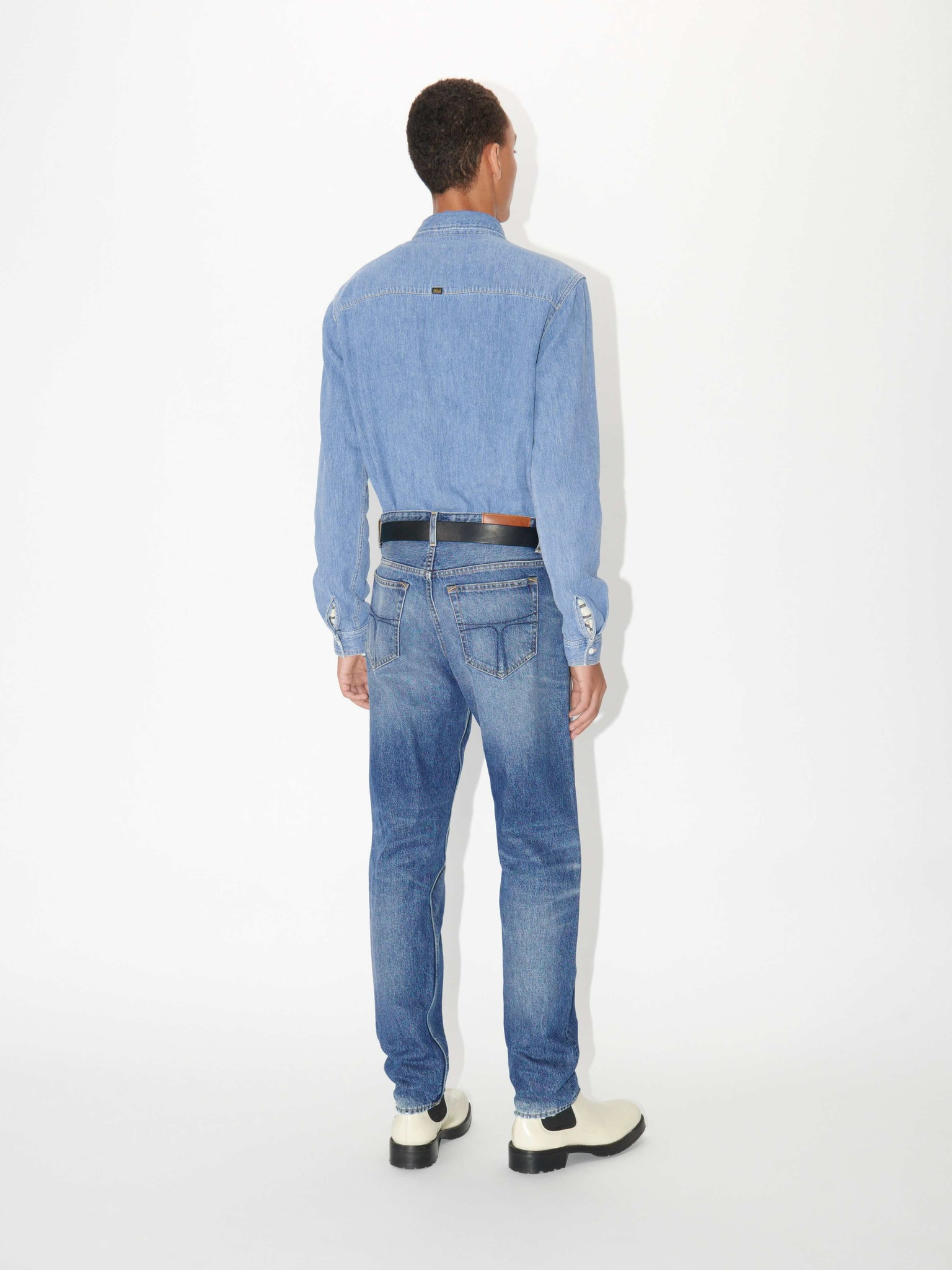 Pure NP. Lichtblauw Jeans Shirt-3