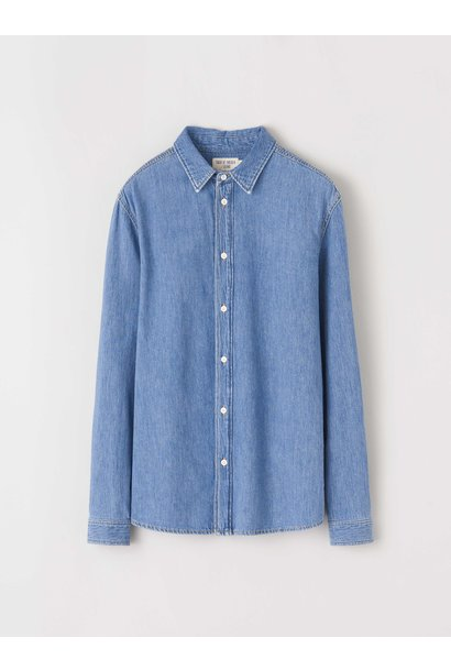 Pure NP. Lichtblauw Jeans Shirt