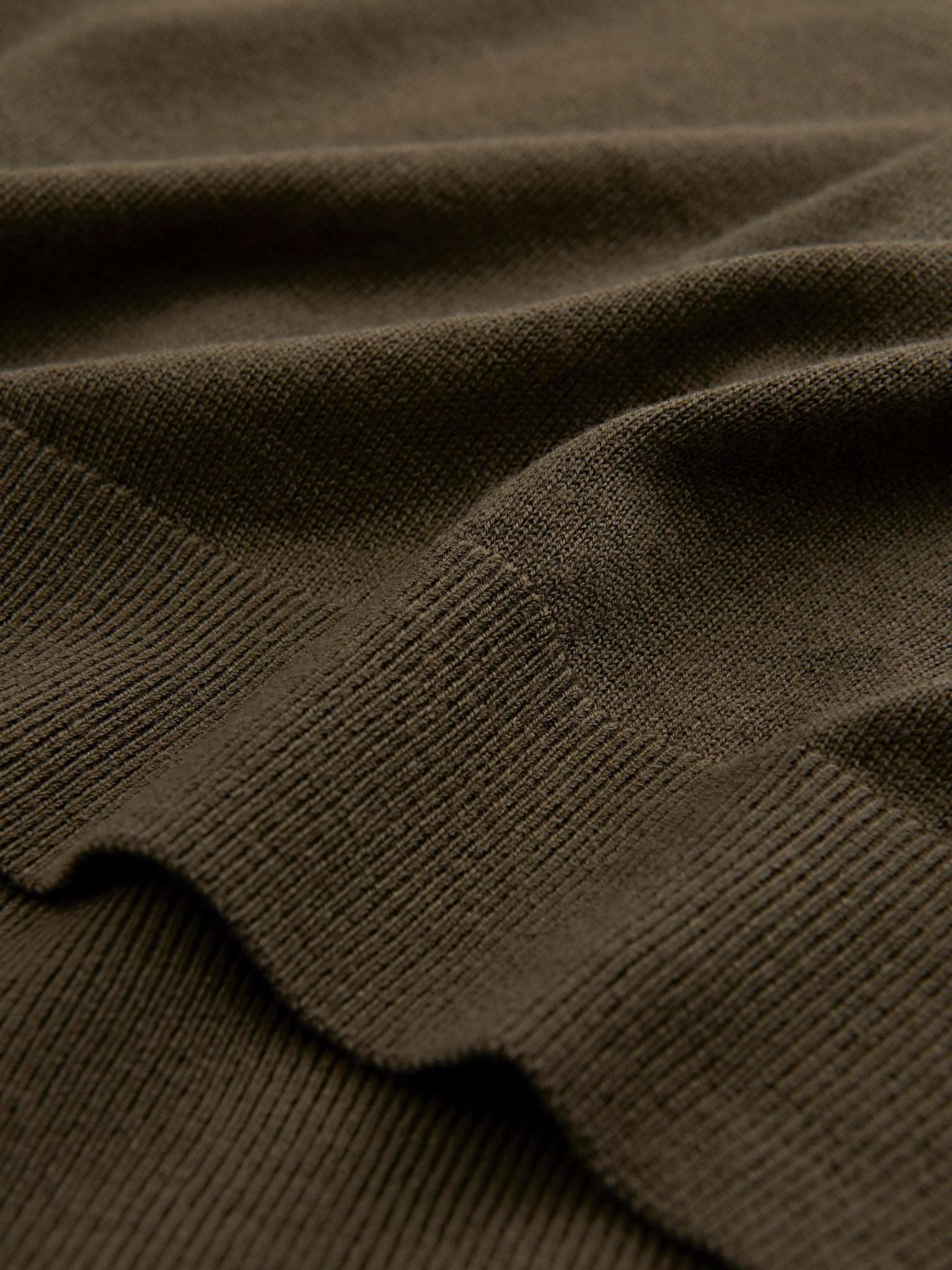 Nichols Merino Wool Pullover Kalamata Green-2